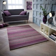 Calais Stripe Rug - Berry
