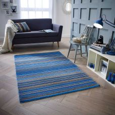Calais Stripe Rug - Blue