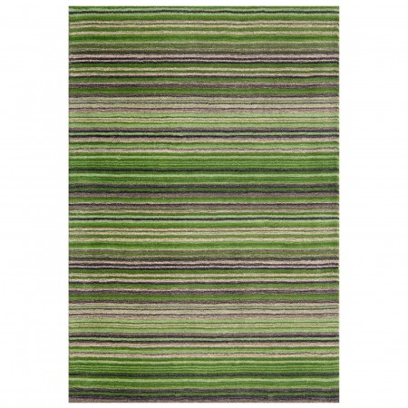 Carter Striped Rug - Green