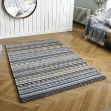 Carter Striped Rug - Grey