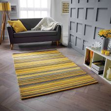 Carter Striped Rug - Ochre