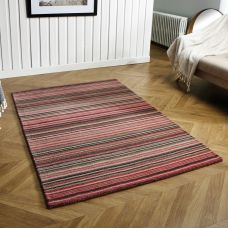 Carter Striped Rug - Pink