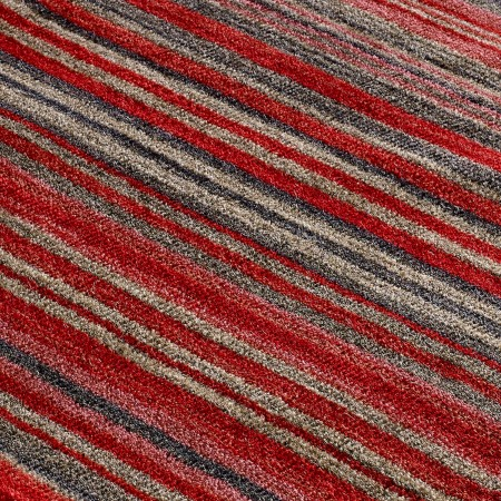 Carter Striped Rug - Red