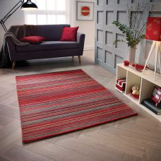 Carter Striped Rug - Red
