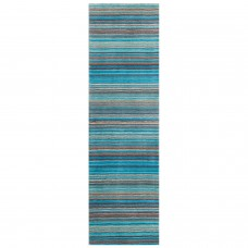 Carter Striped Runner - Teal