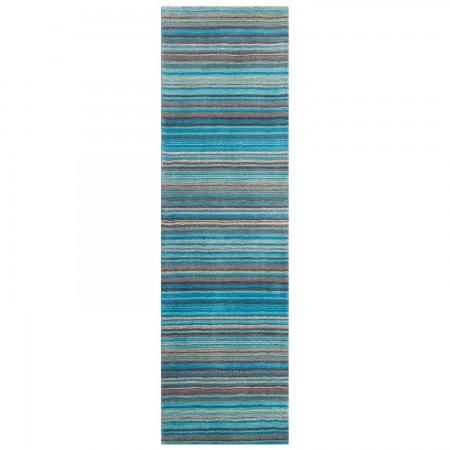 Carter Striped Rug - Teal