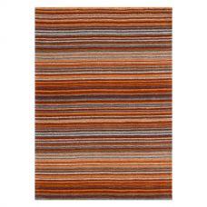 Calais Stripe Rug - Rust