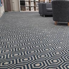 Contessa Retro Pattern Wilton Carpet - Bluebell