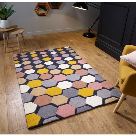 Descent Wool Rug - Charcoal