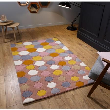 Descent Wool Rug - Pink