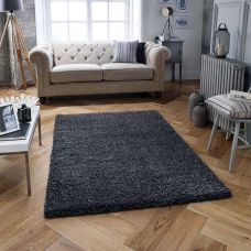 Melody Shaggy Rugs - Charcoal