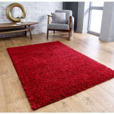 Isla Shaggy Rug - Red