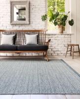 Knox Reversible Wool Rug - Blue