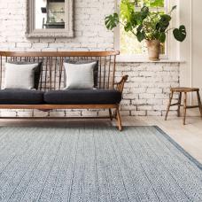 Knox Reversible Geometric Wool Rug - Blue
