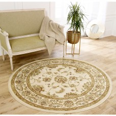 Kendra Traditional Circle Rug - 2330X Cream Gold