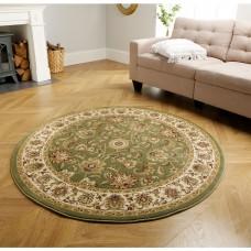 Kendra Traditional Circle Rug - 3330G Green Gold