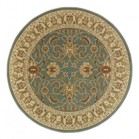 Kendra Traditional Circle Rug - 45L Green Gold