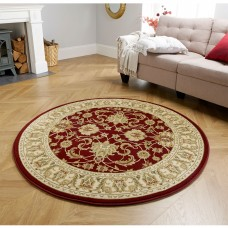 Kendra Traditional Circle Rug - 45M Red Gold
