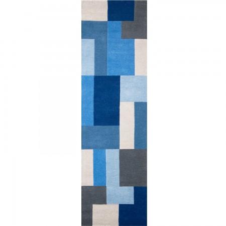 Lexus Geometric Rug - Blue