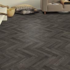 Floormaster Vinyl - Charcoal Herringbone
