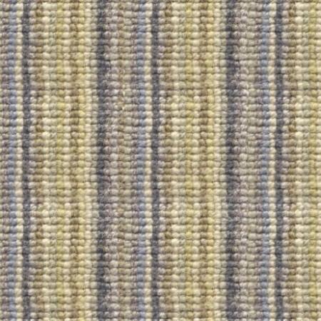 Madagascar Wool Loop Stripes Carpet - Blue & Gold 100