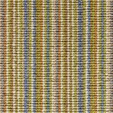Madagascar Wool Loop Stripes Carpet - Yellow & Blue 117