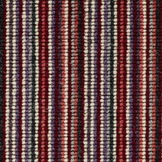 Madagascar Wool Loop Stripes Carpet - Red & Grey 123
