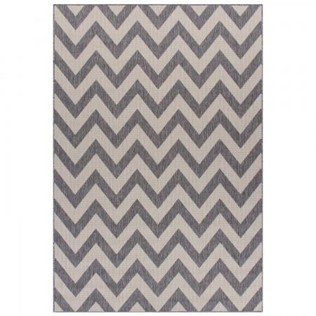 Moda Anti Slip Flatweave Rug - Chevron Grey