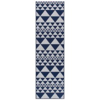 Moda Anti Slip Flatweave Runner - Prism Blue