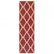 Moda Anti Slip Flatweave Runner - Trellis Red