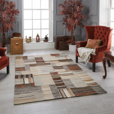 Navajo Wool Ethnic Rug - Natural