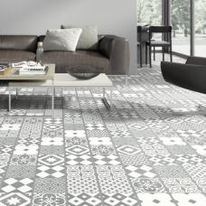 Ornament Laminate Tiles - Linares Grey White