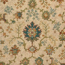 Renaissance Patterned Wool Carpet - Ivory Palmette