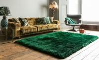 Plush Ultimate Shaggy Silk Rug - Emerald