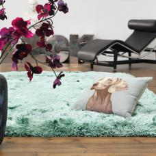 Plush Ultimate Shaggy Silk Rug - Ocean
