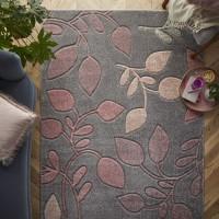 Portland Floral Rug - 1096V Grey Pink