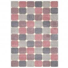 Portland Geometric Rug - 172P Grey Pink Cream