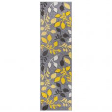 Portland Floral Runner - 1096 Grey Yellow Black
