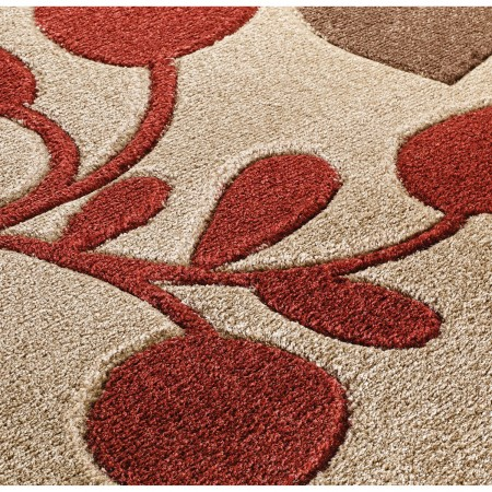 Portland Floral Rug - 1096M Brown Red Beige