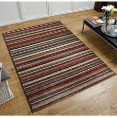 Portland Striped Rug - 2525N Orange Multi