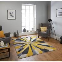 Portland Abstract Rug - 3337A Yellow Grey Cream