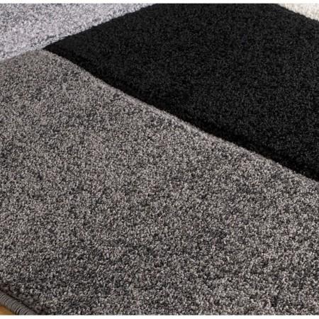 Portland Geometric Rug - 8425B Black White Grey