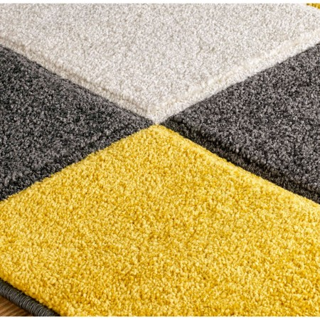 Portland Geometric Runner - 8425I Black Yellow Grey