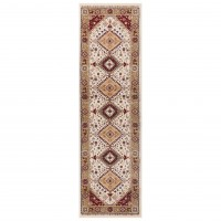 Royal Classic Traditional Runner - 93W Beige Red