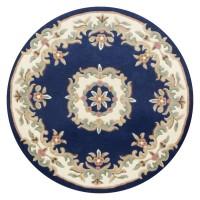 Royal Traditional Circle Rug - Blue