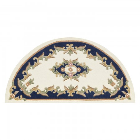 Royal Traditional Rug - Cream Blue