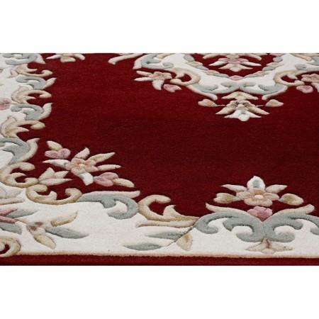 Royal Traditional Half Moon Rug - Red