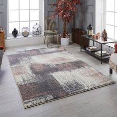 Sansa Distressed Rug - 2s Grey Pink