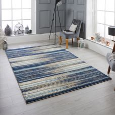 Sansa Distressed Rug - 82L Blue
