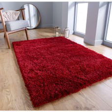 Serene Shaggy Rug - Red